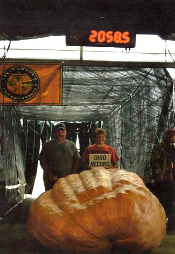 Jerry-Jerry Rose III, Grand Champion Pumpkin- 2058.5#