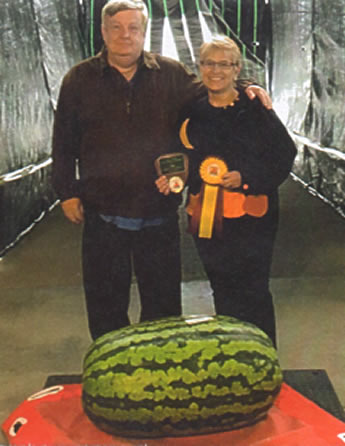 Alan Gibson, Joan Gibson, 1st Watermelon- 170#